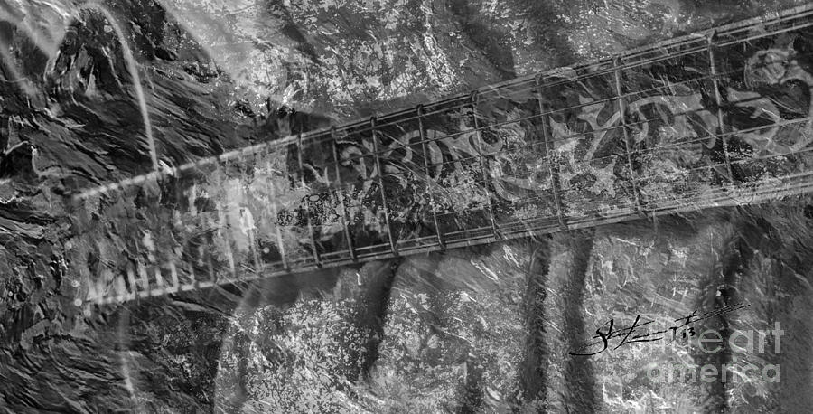Gibson In Black And White Digital Guitar Art By Steven Langston Photograph