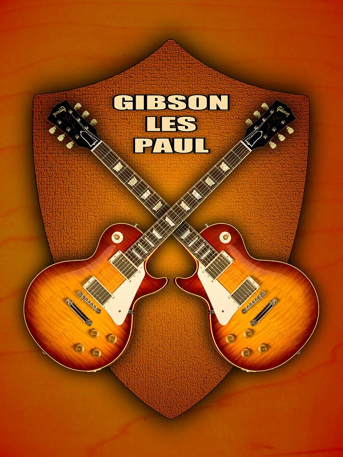Gibson Les Paul Standart  Shield Digital Art