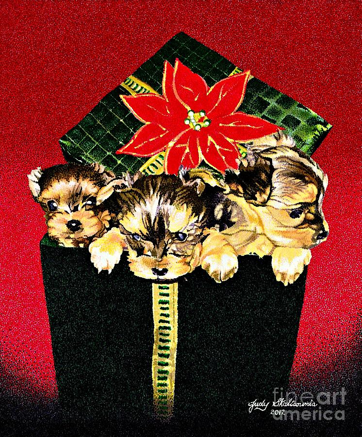 Gift Puppies Drawing