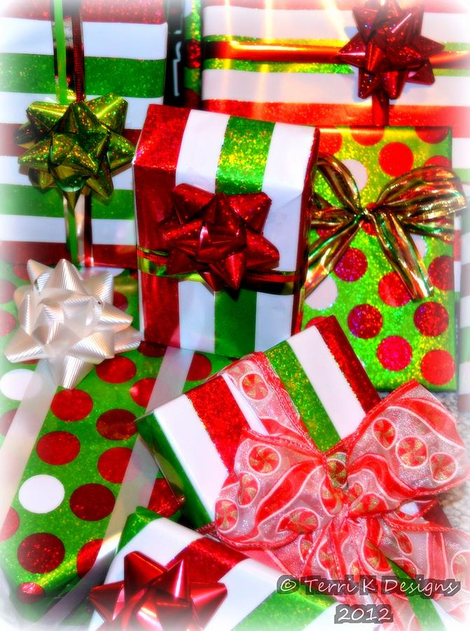 Christmas Photograph - Gifts Galore by Terri K Designs
