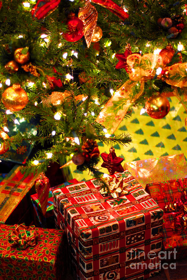 Gifts Under Christmas Tree Photograph  - Gifts Under Christmas Tree Fine Art Print