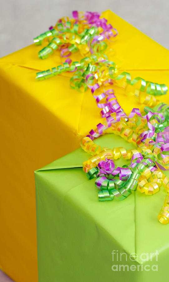 Gifts With Ribbon Photograph  - Gifts With Ribbon Fine Art Print