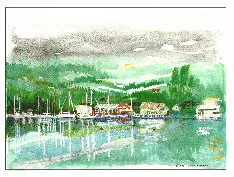 Gig Harbor Waterfront Painting