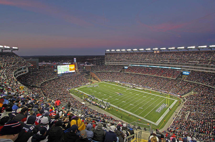 Gillette Stadium And New England Patriots Photograph