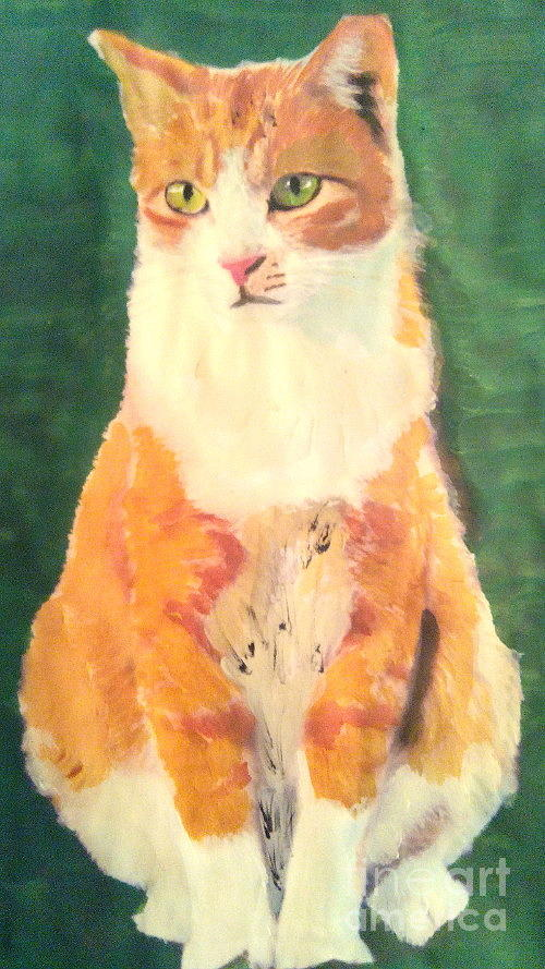 Ginger Painting  - Ginger Fine Art Print