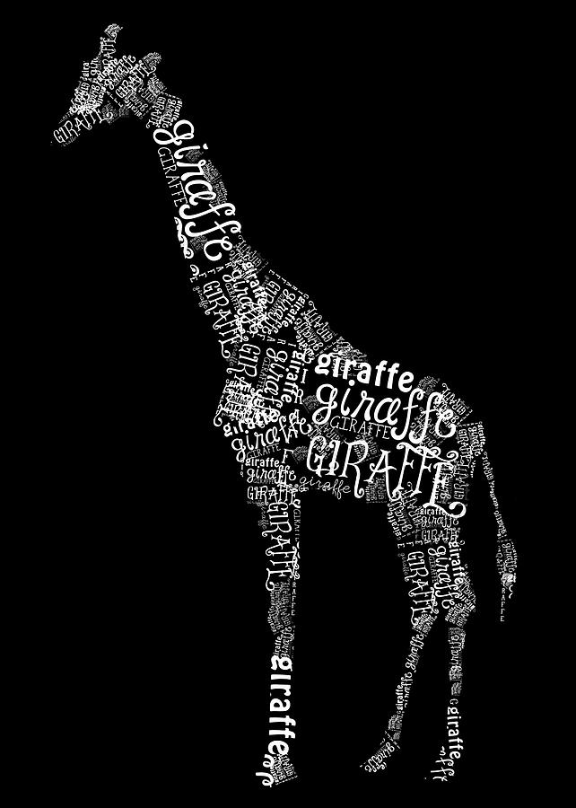 Graphic Digital Art - Giraffe Is The Word by Heather Applegate