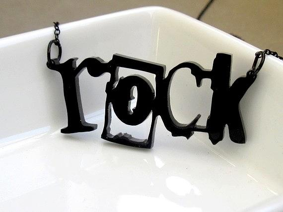 Girl Can Rock Necklace Jewelry