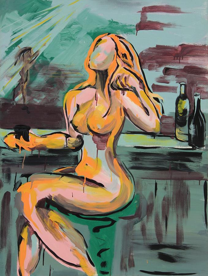 Girl In A Glass # 9 Painting