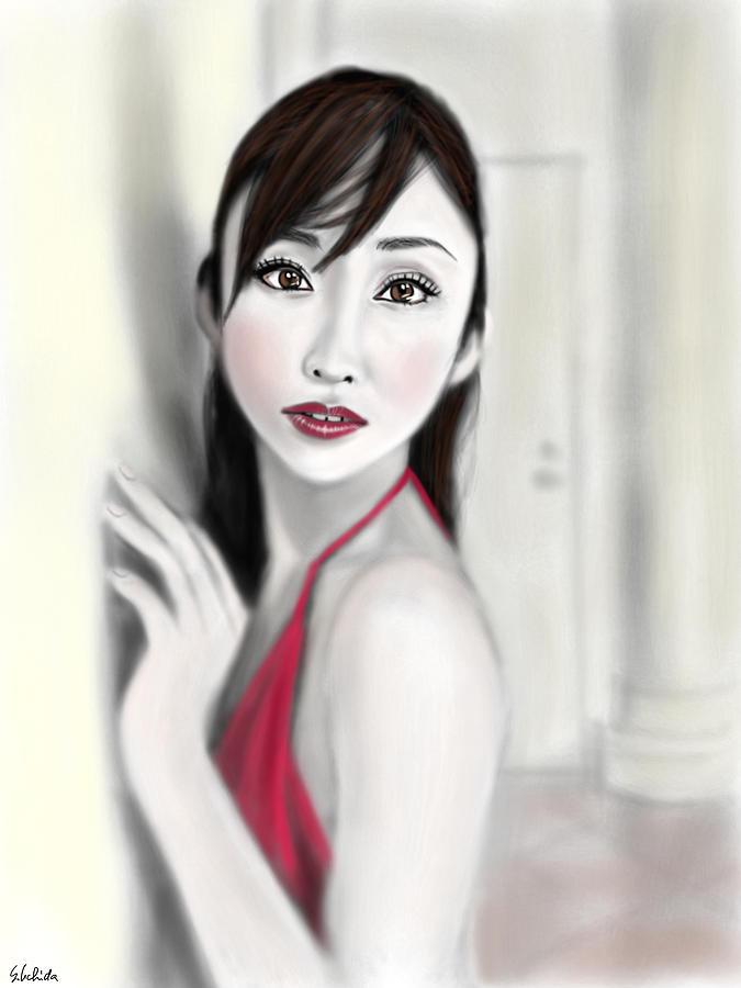 Ipad Painting - Girl No.47 by Yoshiyuki Uchida