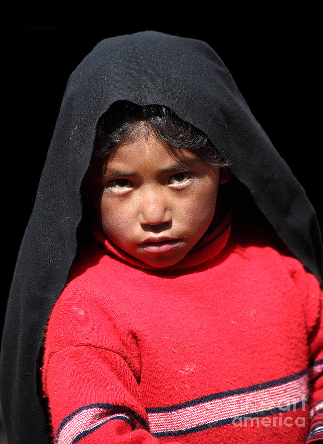 Girl On Taquile Island Photograph