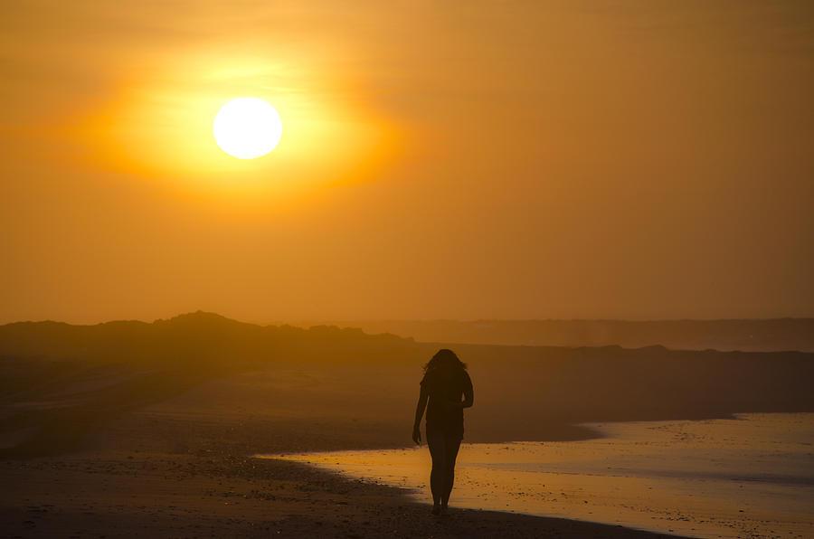 Girl On The Beach  Photograph