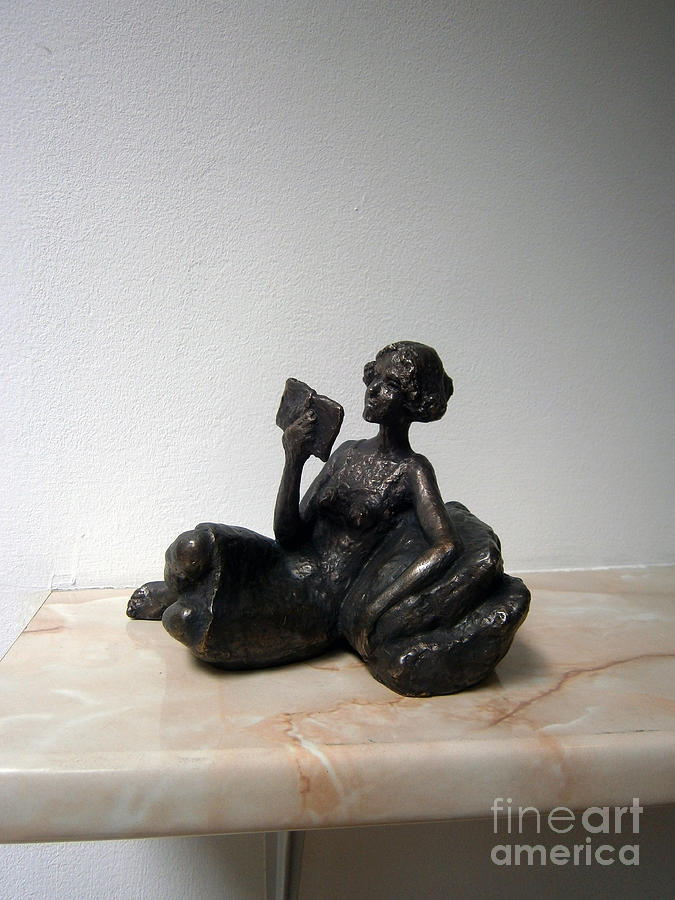 Girl With Book Sculpture