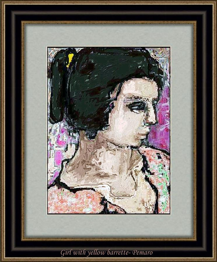 Girl With Yellow Barrette Painting