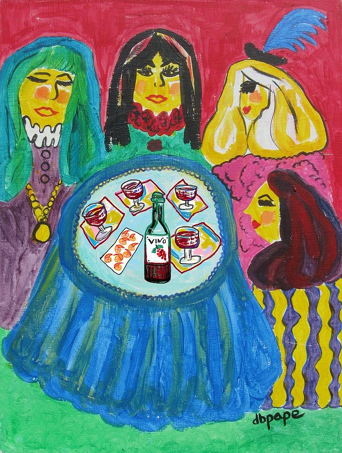 Girlfriends Painting - Girls Night Out by Diane Pape