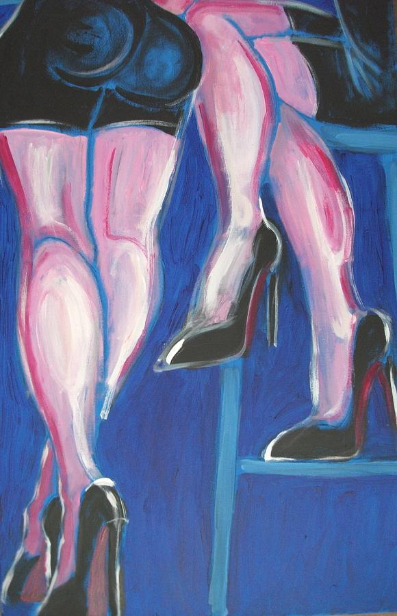 Girls Night Out - At The Bar Painting  - Girls Night Out - At The Bar Fine Art Print