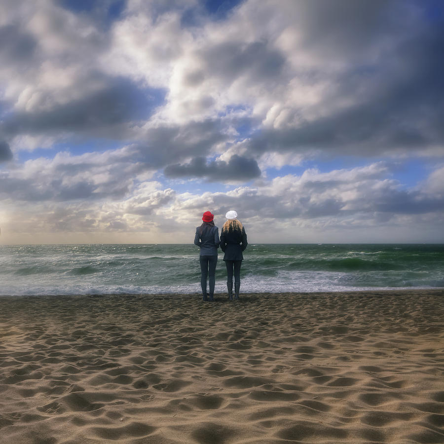 Girls On The Beach Photograph  - Girls On The Beach Fine Art Print