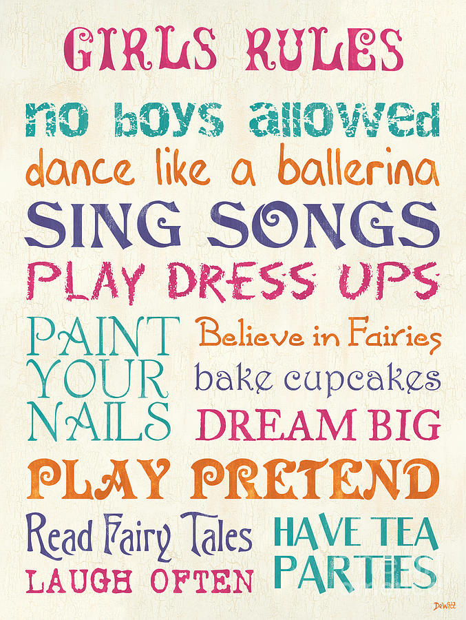Girls Rules Painting