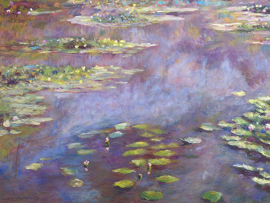 Impressionist Painting - Giverny Nympheas by David Lloyd Glover