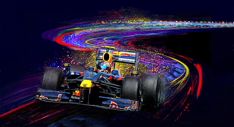 Sebastian Vettel Painting - Gives You Wings by Alan Greene