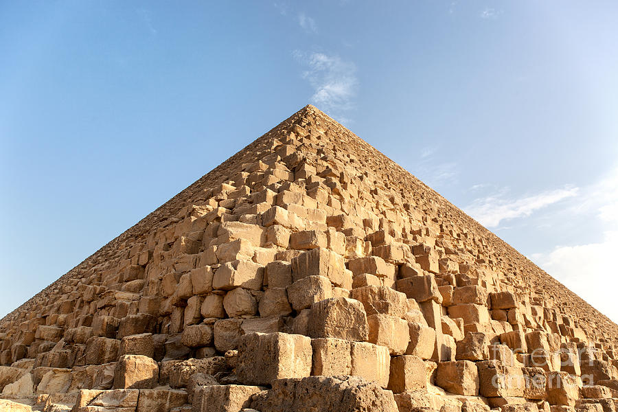 Giza Pyramid Detail Photograph