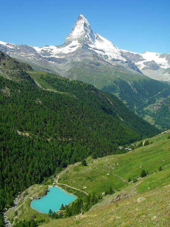 Glacial Lake And The Matterhorn Peak Near Zermatt Switzerland Photograph