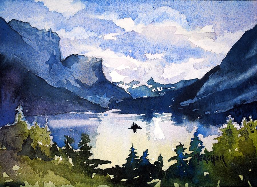 Glacier National Park Painting