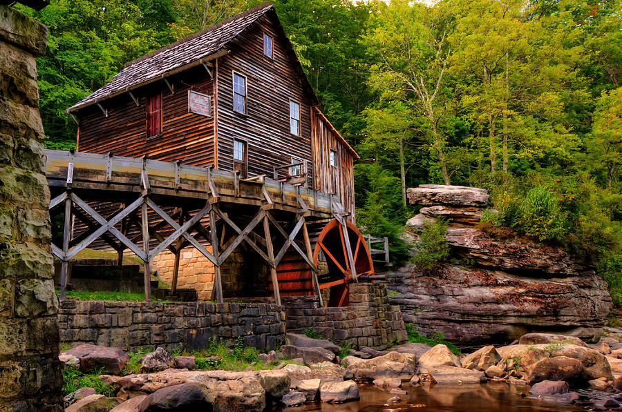 Glade creek cooper 39 s mill photograph by gregory ballos for Coopers mill