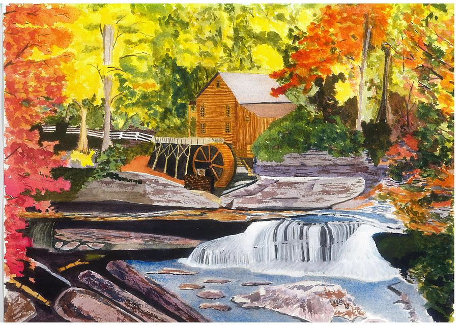 Glade Creek Grist Mill Painting