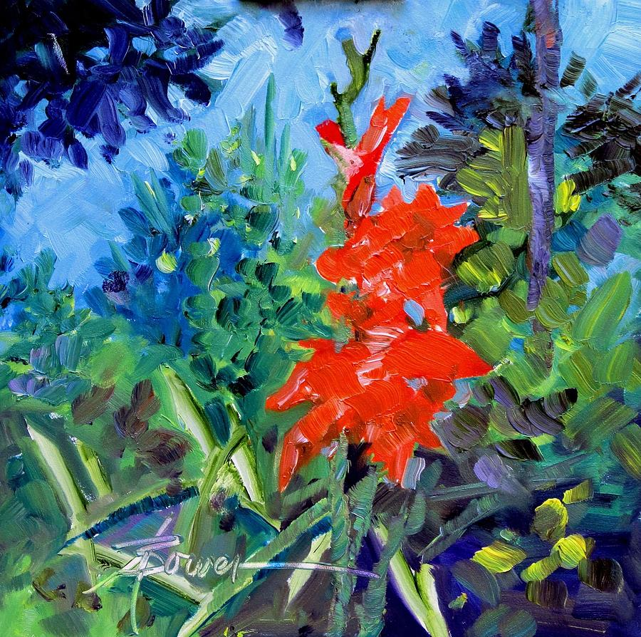 Gladiolus Painting by Adele Bower