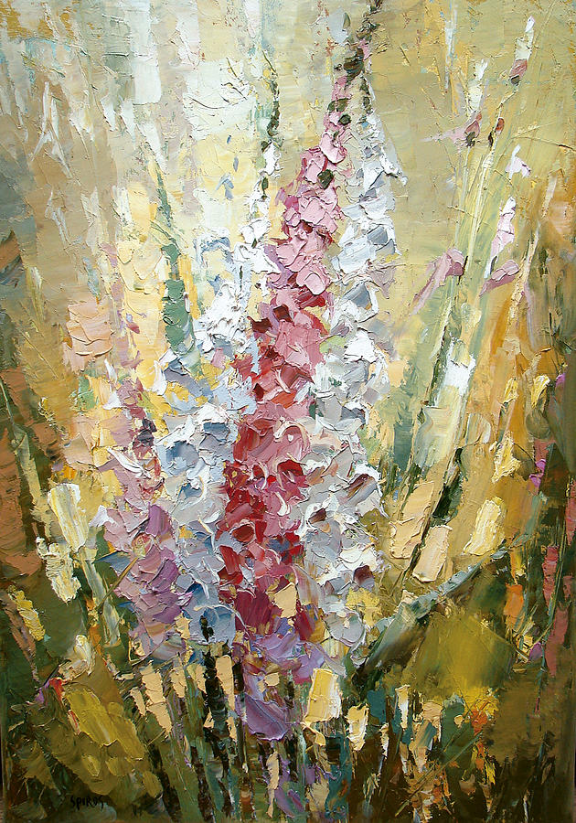 Gladiolus Painting by Dmitry Spiros