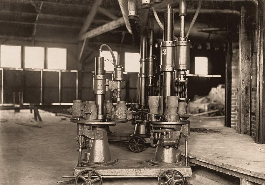 Glass-blowing Machine, 1908 Photograph