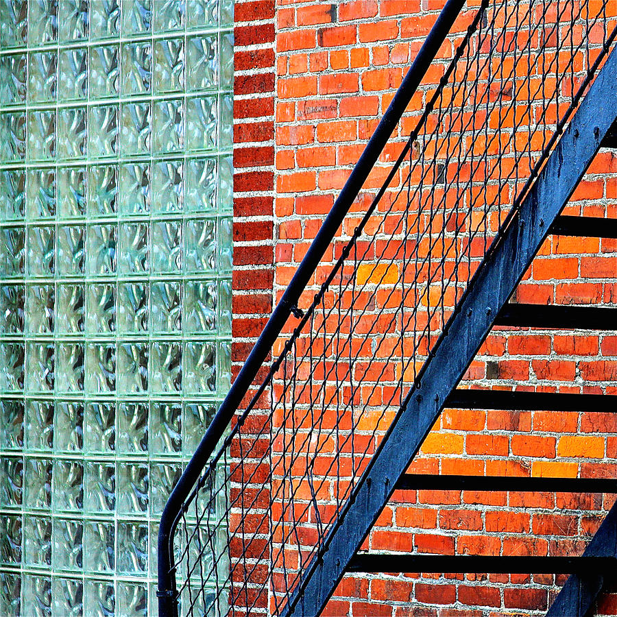 Glass Bricks Photograph  - Glass Bricks Fine Art Print