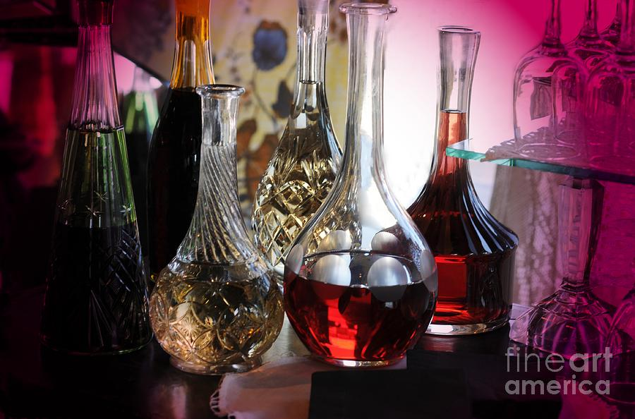 Glass Decanters Photograph  - Glass Decanters Fine Art Print