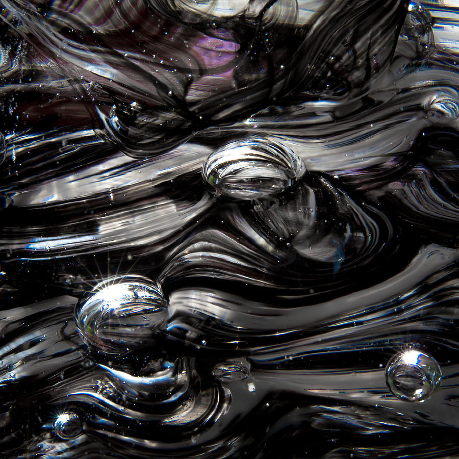 Glass Photograph - Glass Macro - Black And White II by David Patterson