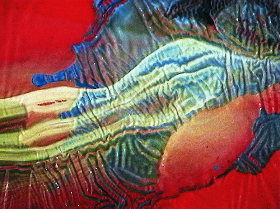 Painting On Glass Painting - Glass Painting 23 Detail 1 by Patrick Morgan