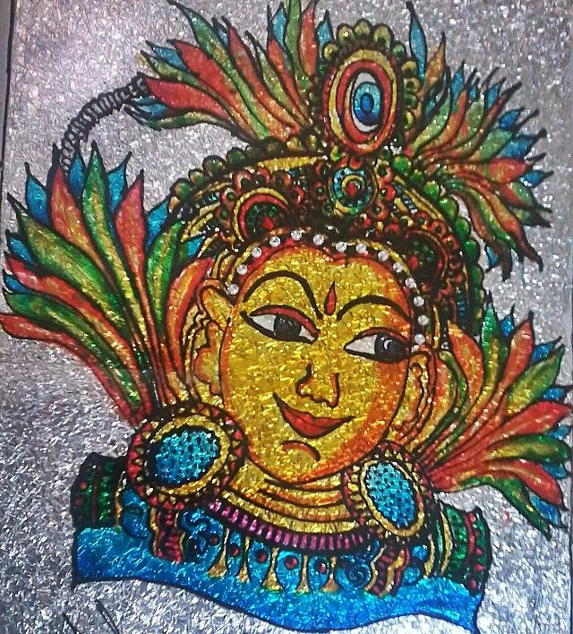 glass painting glass art by surbhi oberoi