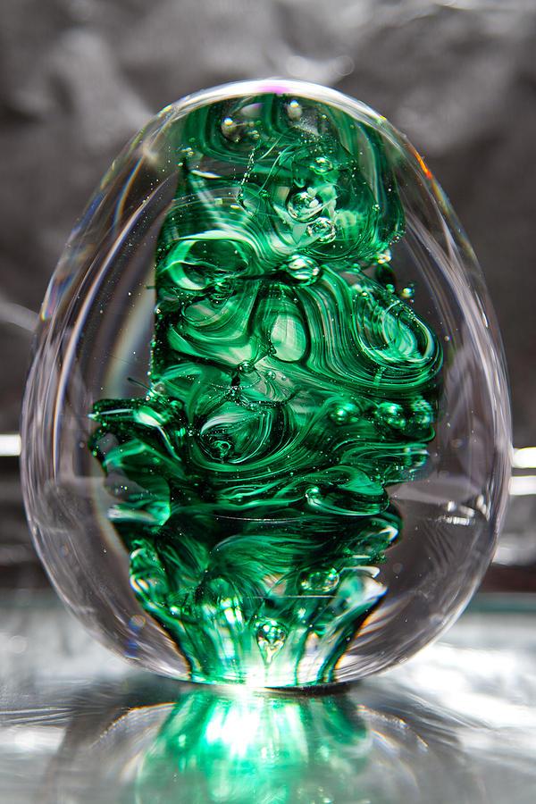 Glass Sculpture - Glass Sculpture Egw  by David Patterson
