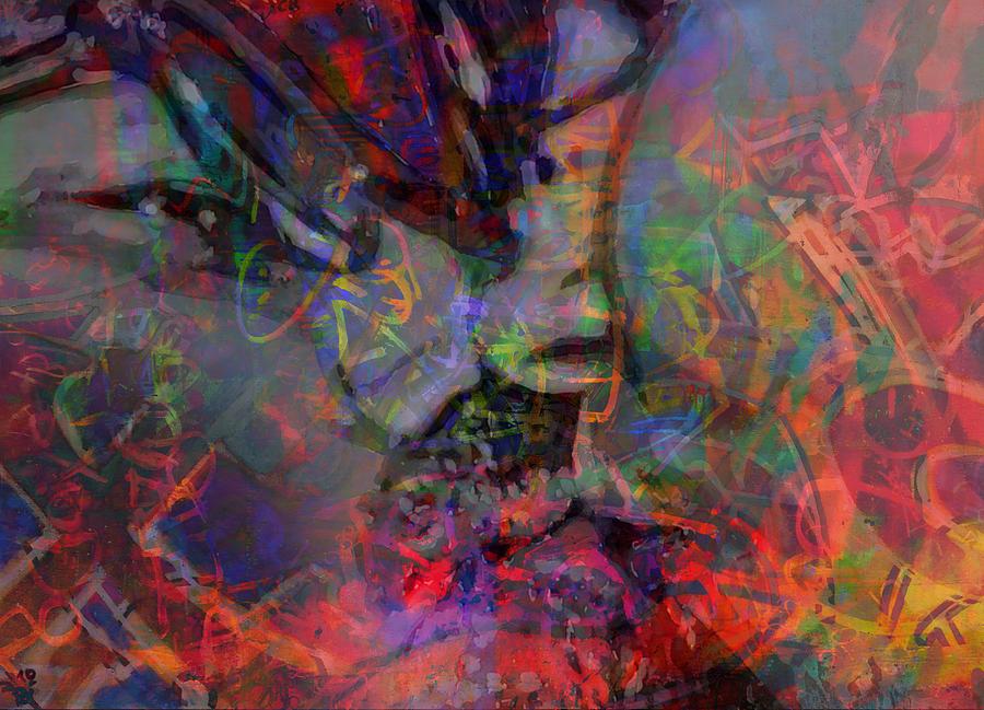 Glasses Kiss Painting