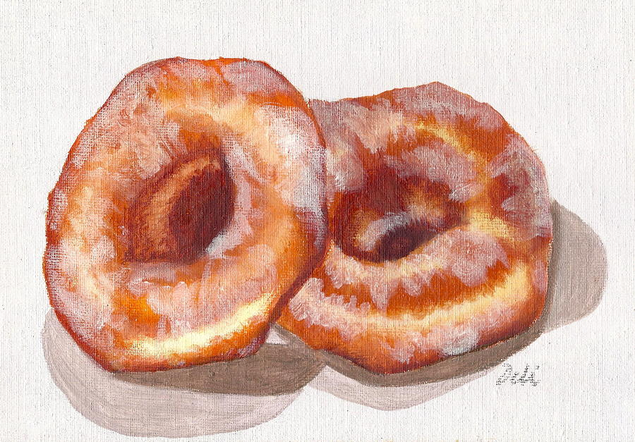 Glazed Donuts Painting  - Glazed Donuts Fine Art Print