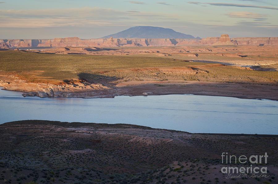 Glen Canyon Photograph - Glen Canyon And Navajo Mountain by Dave Gordon