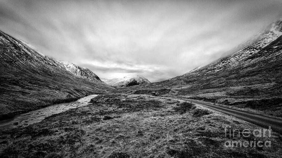 Glen Etive Road And River Photograph