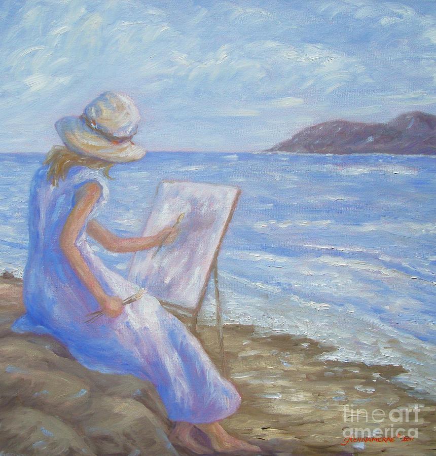 Coast Painting - Glennabythesea by Glenna McRae