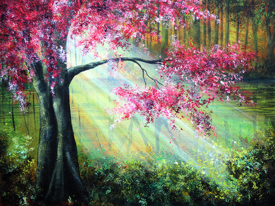 Nature art painting easy the image kid for Easy but beautiful paintings