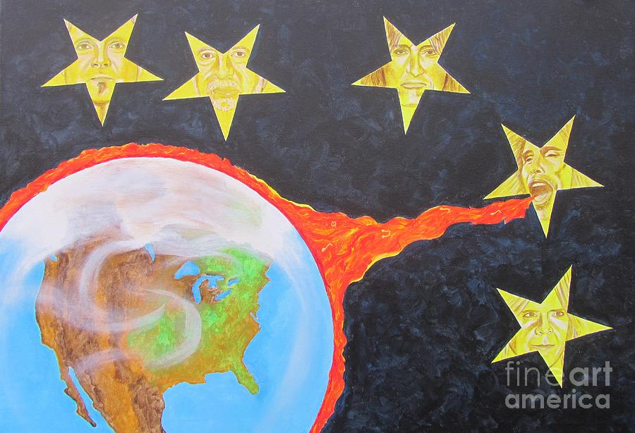 Global Warming Tour Aerosmith  Painting