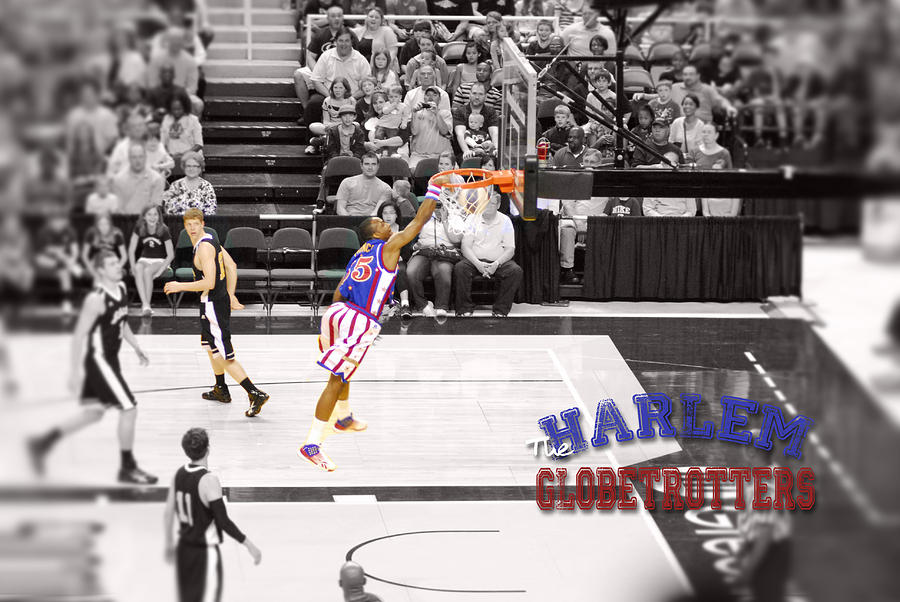 Globetrotter Slam Dunk Digital Art  - Globetrotter Slam Dunk Fine Art Print