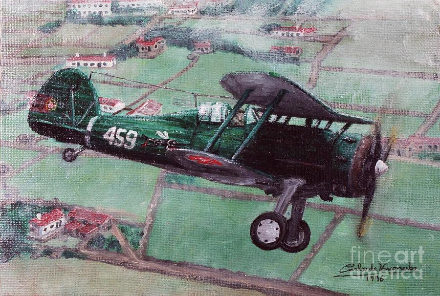 Gloster Gladiator Ii Painting - Gloster Gladiator II by Carlos De Vasconcelos Tavares