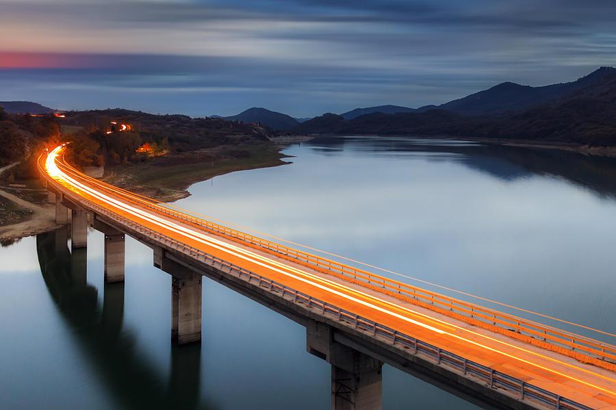 Glowing Bridge Photograph