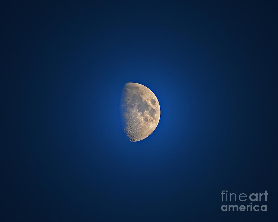 Glowing Gibbous Photograph  - Glowing Gibbous Fine Art Print