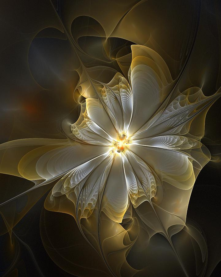 Glowing In Silver And Gold Digital Art
