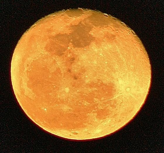 Moon Photograph - Glowing Moon by Bruce Bley